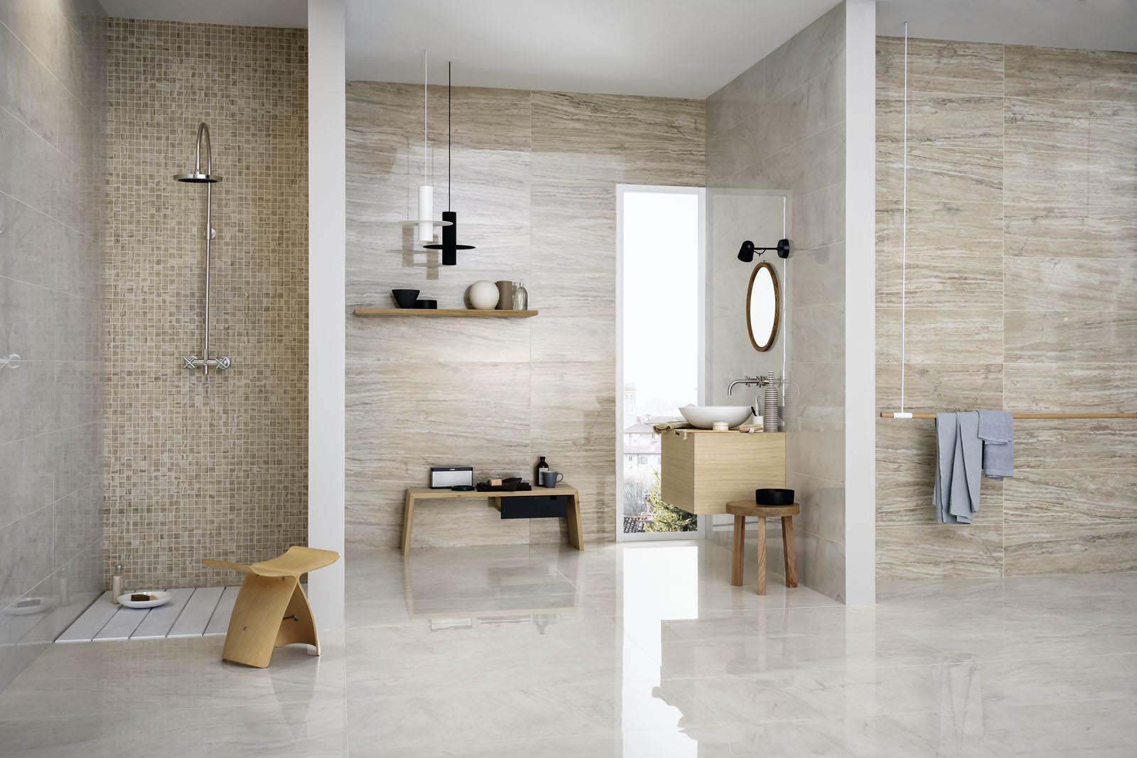 Allmarble marble effect stoneware marazzi - Come rivestire il bagno ...