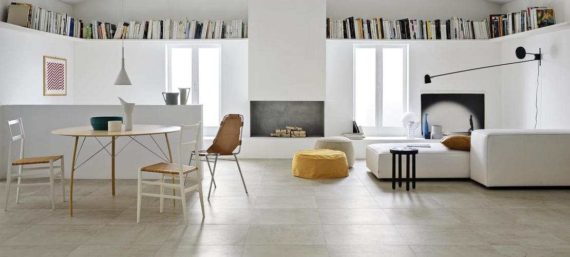 Blend satin stone effect flooring marazzi for Carrelage gres cerame pleine masse 60x60