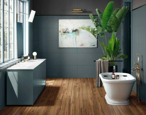 Bathroom Flooring Ceramic And Porcelain Stoneware Marazzi - Porcelain or ceramic tile for bathroom floor