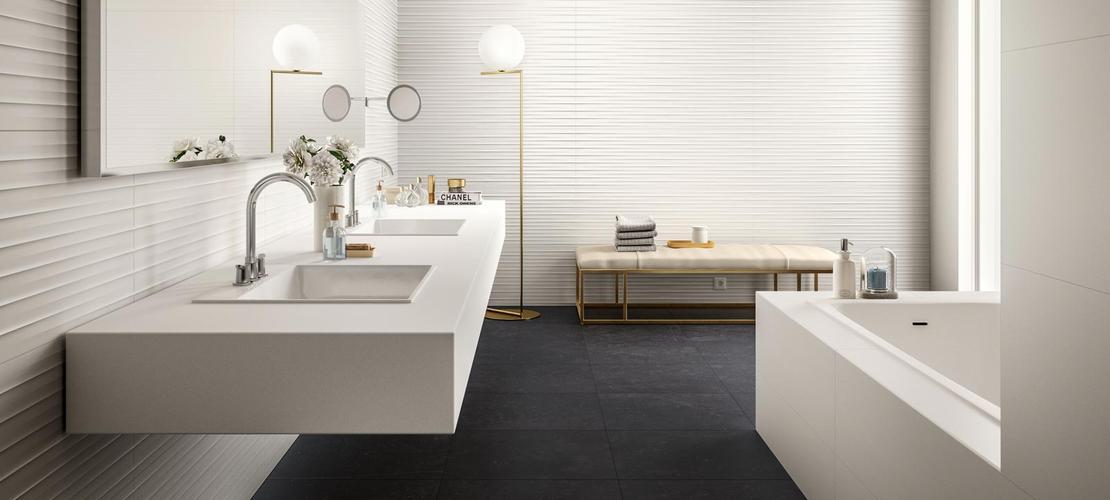 Essenziale - White ceramic bathroom covering | Marazzi