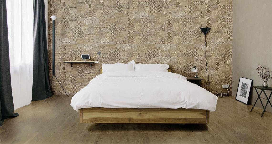 Fabric Concrete Effect Bathroom Fabric