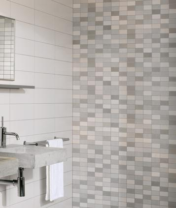 Minimal - Light colour tiles for kitchen and bathroom