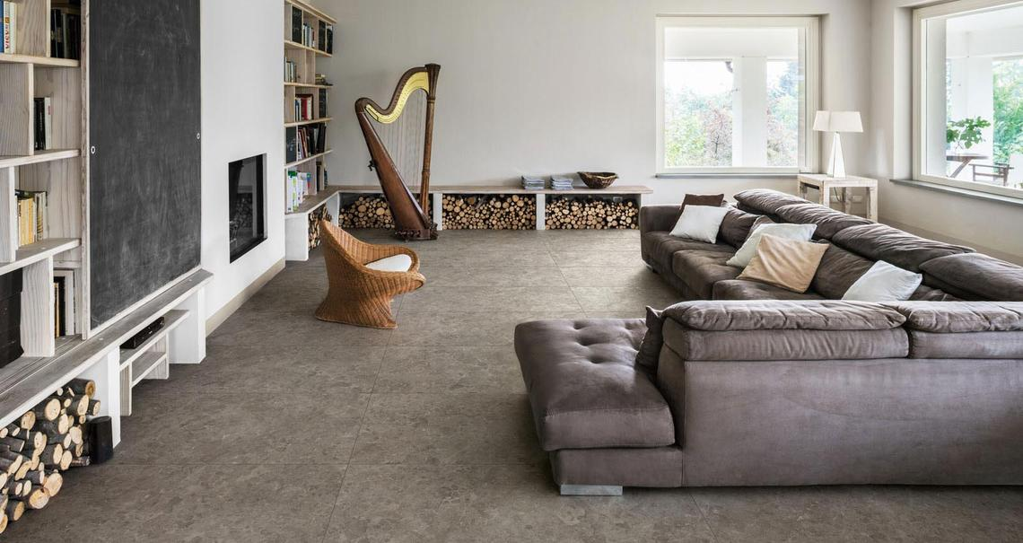 Mystone gris du gent  - Stone Effect - Living Room