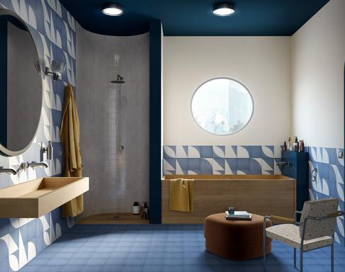 Blue Tiles: view our collections - Marazzi 11629