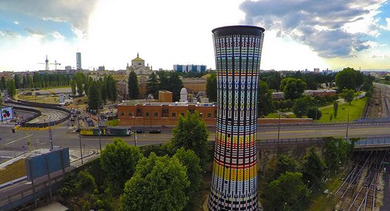 The Rainbow Tower reopens to the public for Open House Milan.