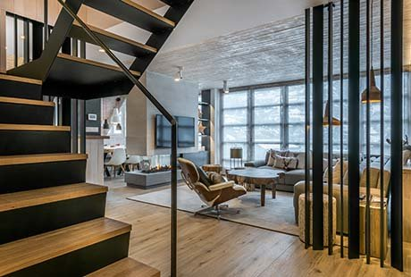 A penthouse in Spain as an example of contemporary mountain design