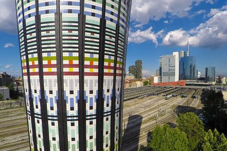 Marazzi ceramic tiles for the Torre Arcobaleno