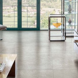 Mystone Limestone: sedimentary rock becomes silky on porcelain stoneware