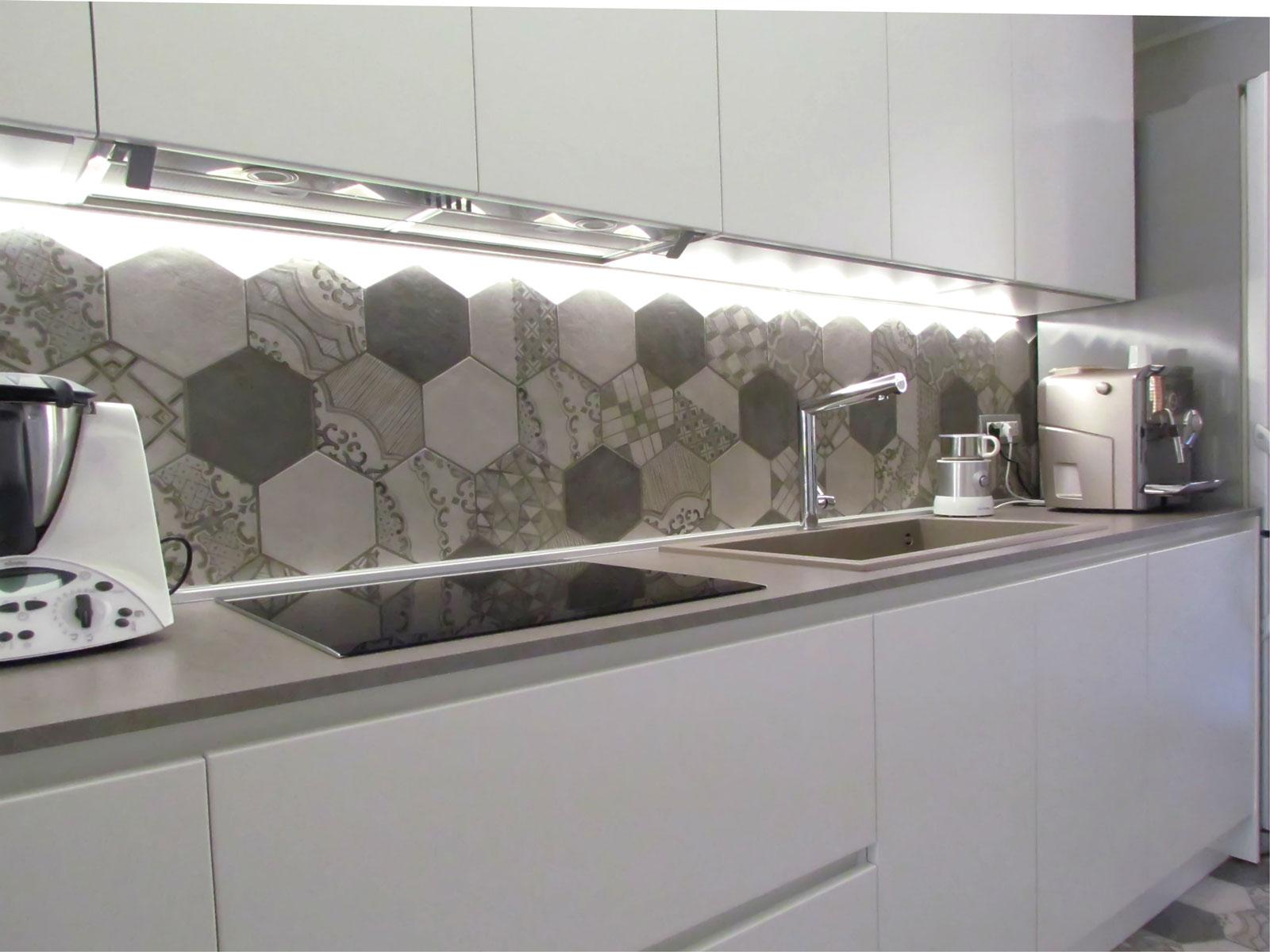 A kitchen decorated with cement tiles marazzi
