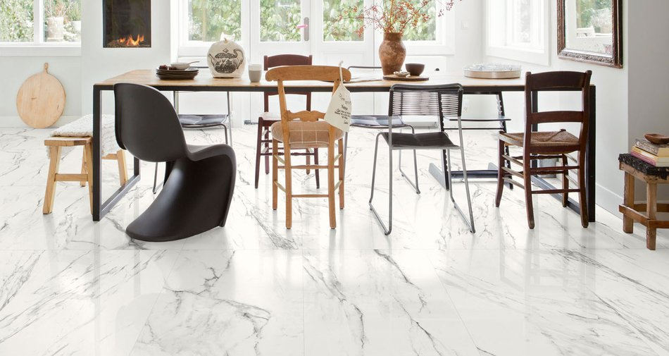 Preview, the glossy stoneware for contemporary interiors