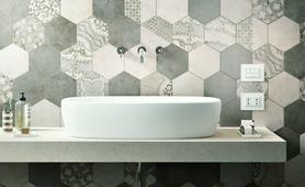 Bathroom decoration ideas: the appeal of the hexagon!