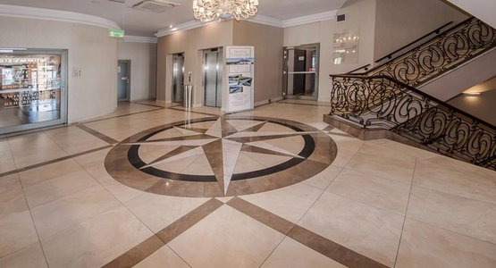 Evolutionmarble, the marble-effect stoneware by Marazzi, features at a high end Resort & Spa in Poland