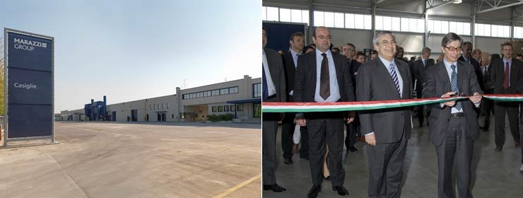 The opening of the Marazzi Group's new production plant