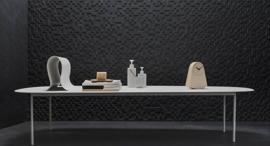 Mystone Lavagna, the stone-effect stoneware for those in search of perfect black