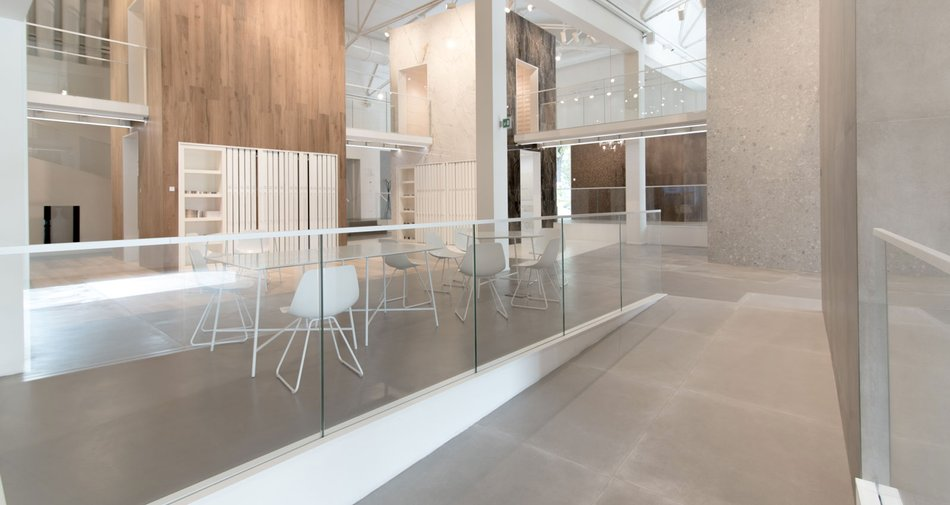 The Marazzi showroom in Sassuolo: a fine blend of design, decoration and architecture.