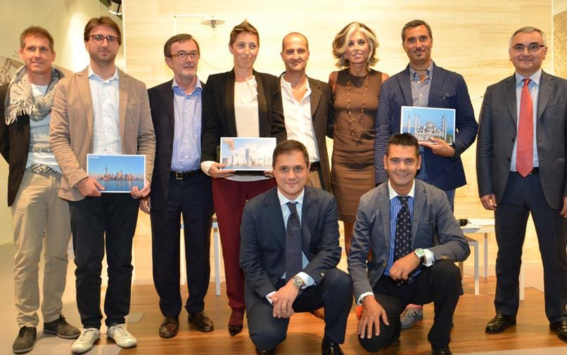 Paola Marella presents the prizes to the Marazzi competition winners at Cersaie