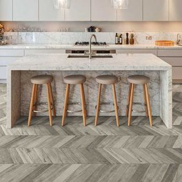 The beauty of the Chevron pattern rediscovered in interior design projects