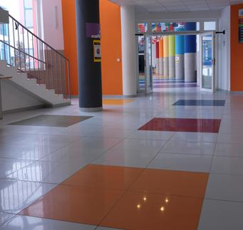 Internal floor International School of Prague