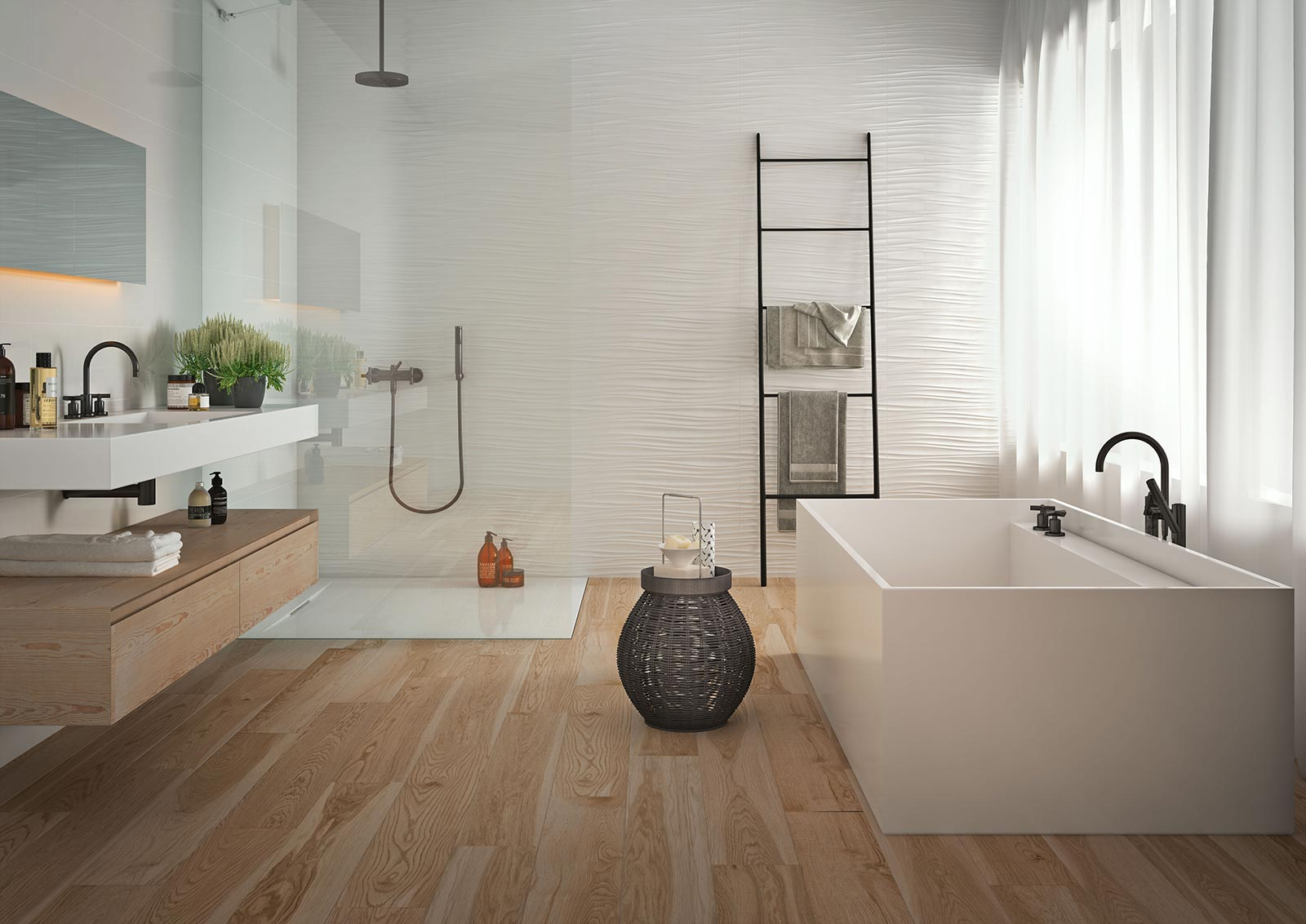 Absolute White 3d Structure White Wall Tiles Marazzi