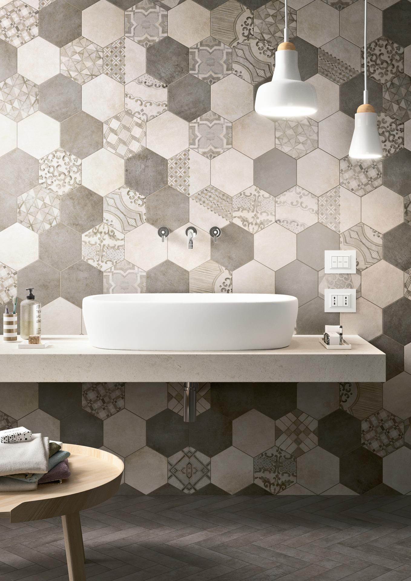 Purple tiles bathroom - Bathroom Flooring Ceramic And Porcelain Stoneware Marazzi