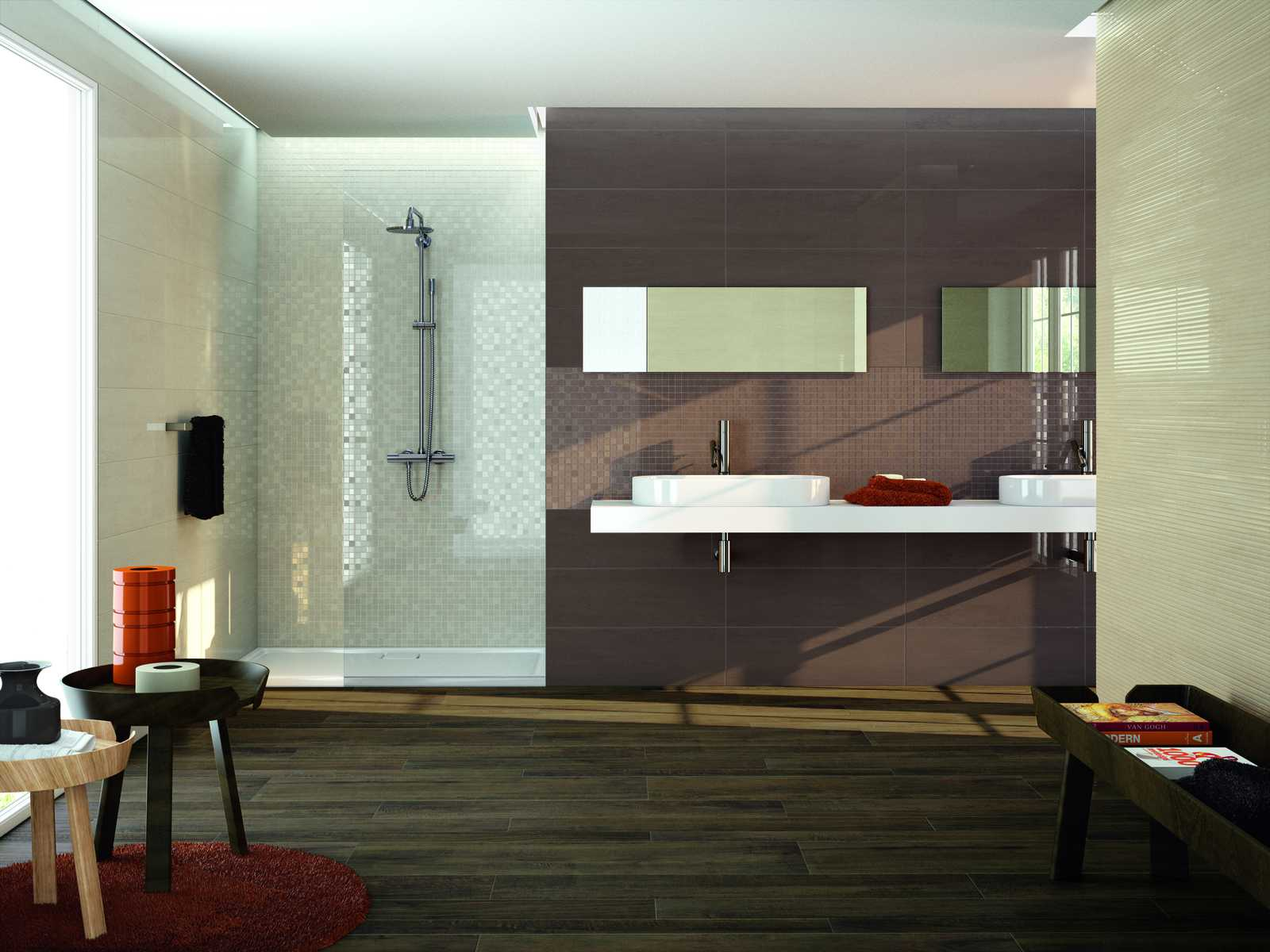 dressy bathroom porcelain stoneware marazzi. Black Bedroom Furniture Sets. Home Design Ideas