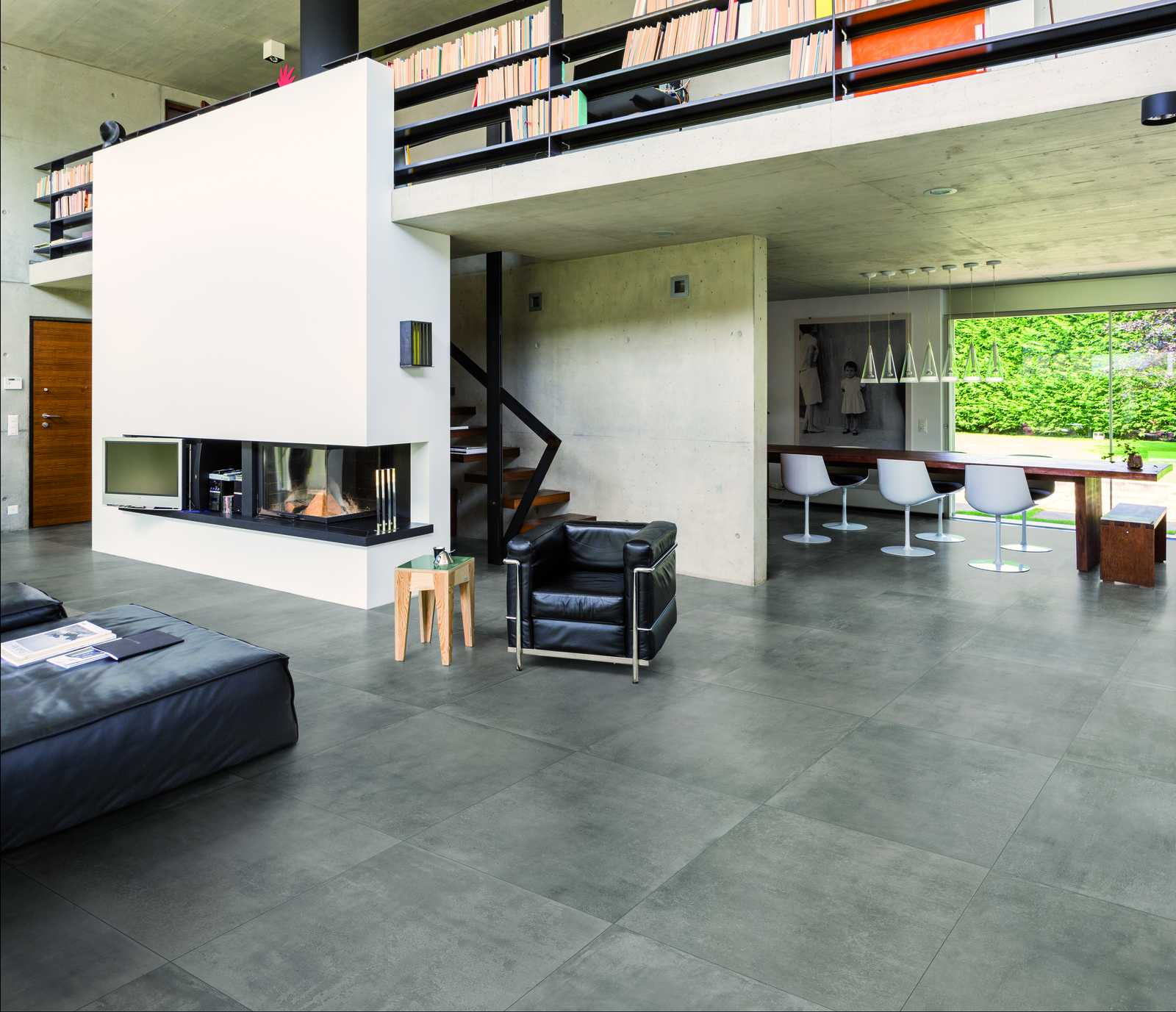 memento concrete effect porcelain tiles marazzi. Black Bedroom Furniture Sets. Home Design Ideas