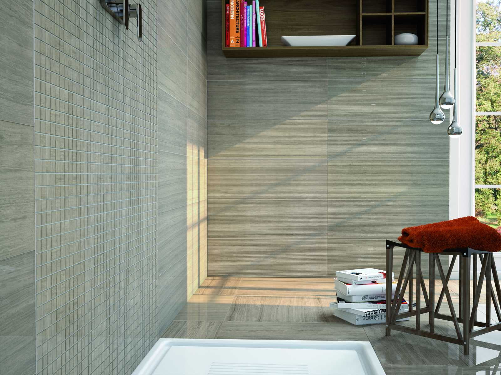 Montreal rectified polished porcelain stoneware marazzi for Gres porcellanato carrelage