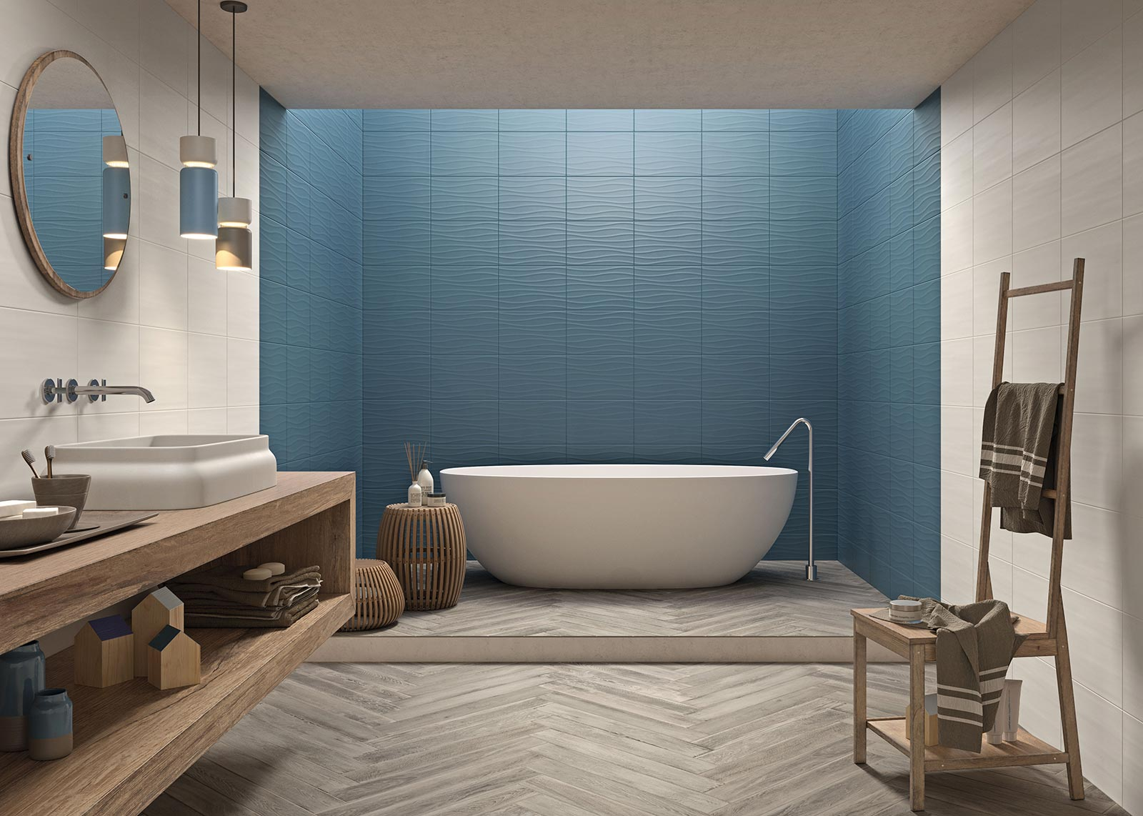 blue tiles view our collections marazzi. Black Bedroom Furniture Sets. Home Design Ideas