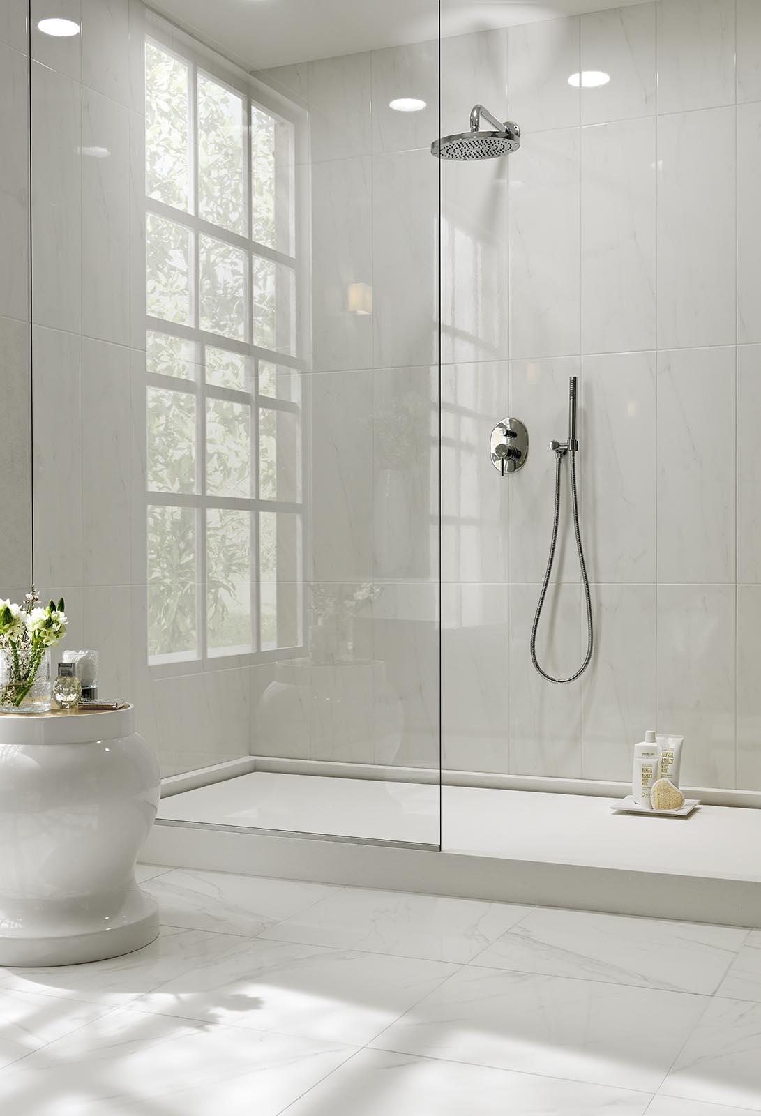 White porcelain stoneware view the collections marazzi - White ceramic wall tiles bathroom ...