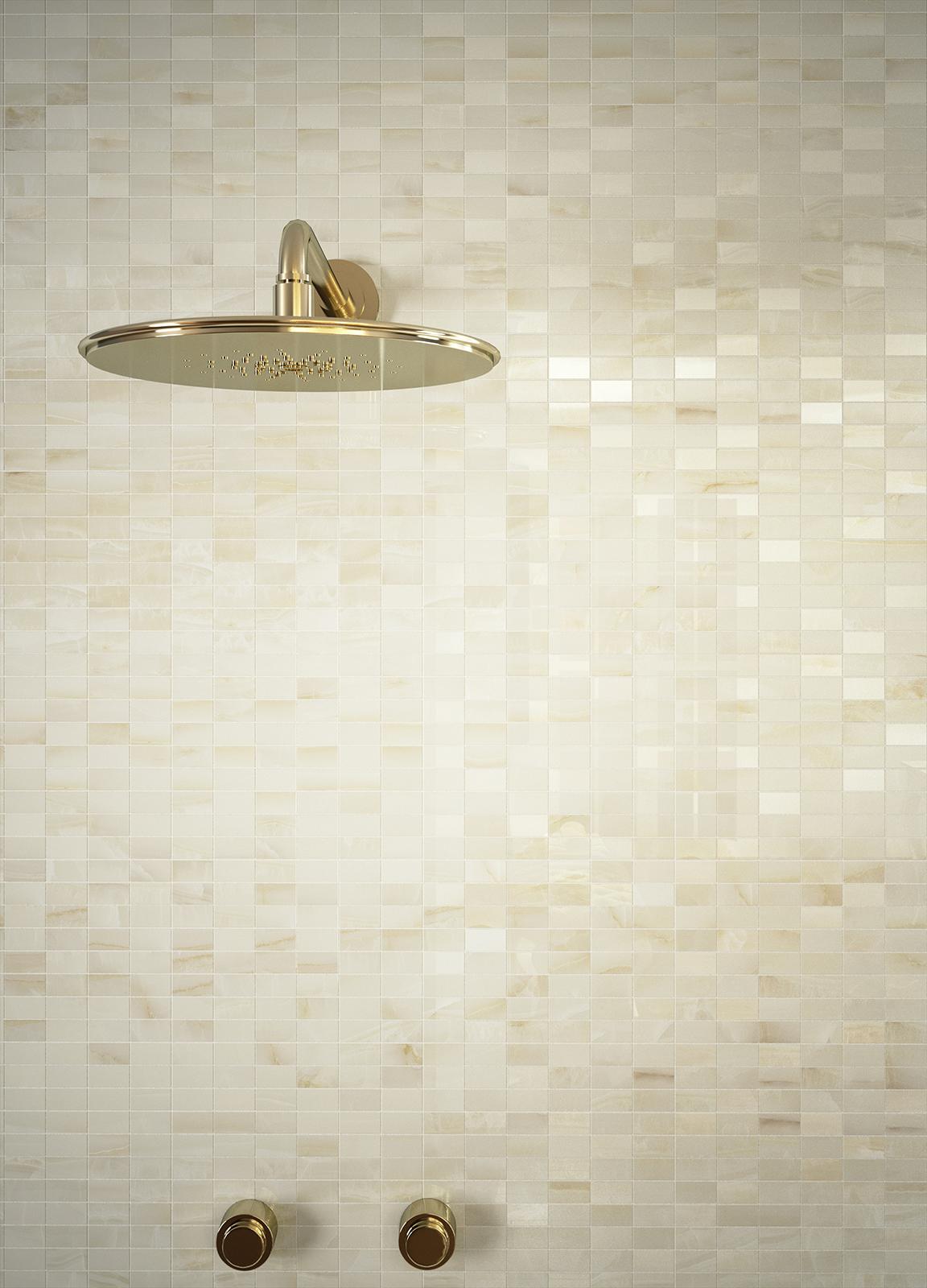 Onix marble effect stoneware for the bathroom marazzi - Revetement murale ...