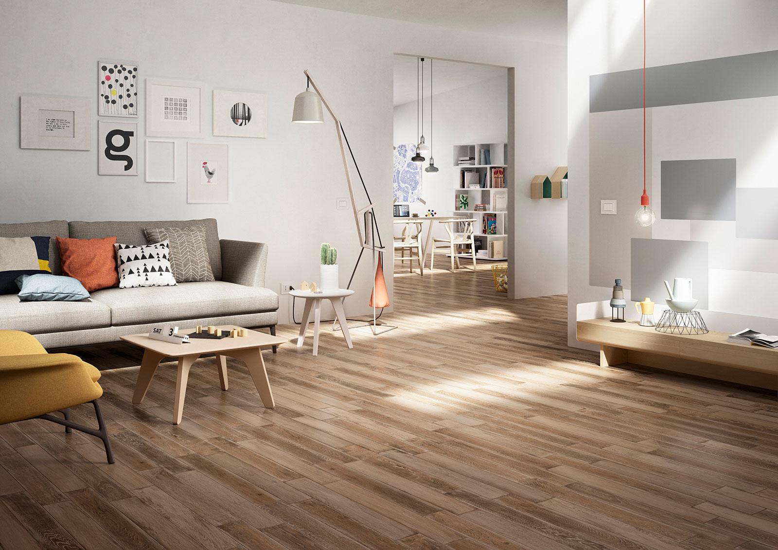 Treverkage wood effect stoneware flooring marazzi - Suelo imitacion parquet ...