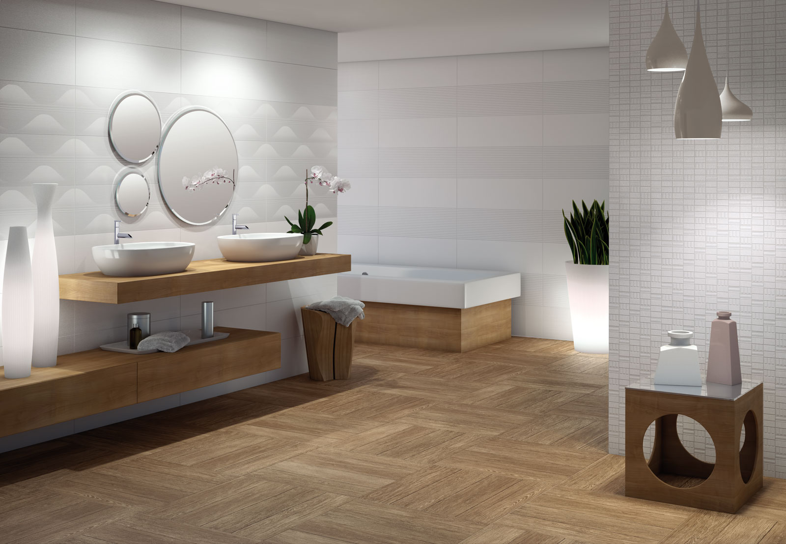 Verano spa and bathroom porcelain stoneware marazzi for Salle de bain style spa