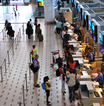 Internal floor Cape Town International Airport